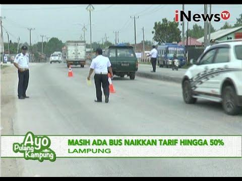 Melebihi tarif batas atas, bus angkutan lebaran ditilang dishub, Lampung - iNews Siang 01/07