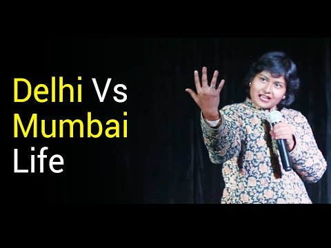 Stand Up Comedy on Delhi Vs Mumbai Life by Devika | StandUp Comedy 2018 | Nojoto Open Mic Delhi thumbnail