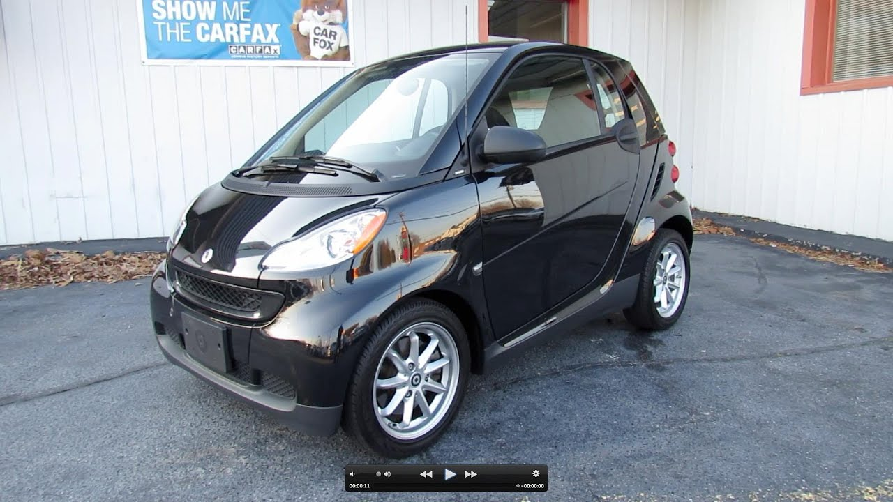 2009 smart fortwo passion coupe start up exhaust in. Black Bedroom Furniture Sets. Home Design Ideas