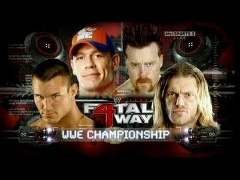 WWE Fatal 4 Way 2010  Edge vs Sheamus vs John Cena vs Randy Orton