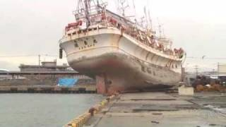Japanese port damaged after Tsunami