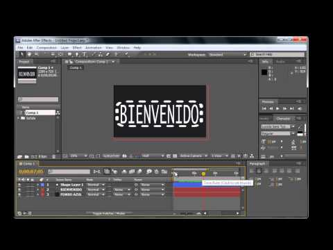After Effects CS5 Parte 5 Solidos, Bridge, Fondo de Pantalla