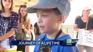 Dream comes true for 8-year-old boy who wants to be a train conductor