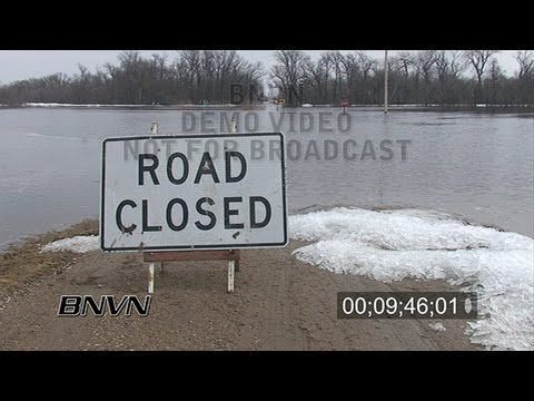 3/21/2009 Wilkin And Clay County MN Flooding - Stock Video Part 1