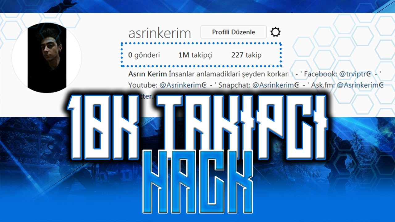 İnstagram Takipçi Hilesi 100k - İnstagram Followers Hack 100k ...