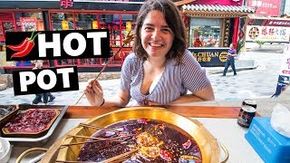 EXTREMELY Spicy Chinese Food: First Time Chongqing Hotpot (China Vlog 2019 麻辣火鍋)