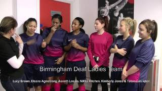 Deaf Ladies Futsal Teams