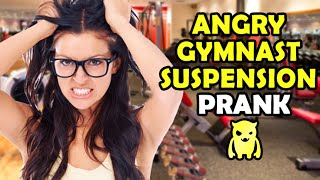 Angry Gymnast Suspension Prank - Ownage Pranks