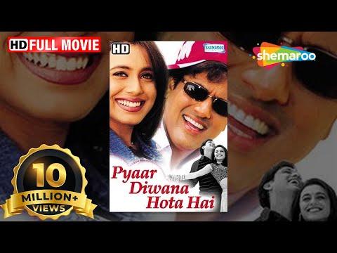 Pyar Diwana Hota Hai (HD) - Hindi Full Movie - Govinda - Rani Mukherjee -Hit Film With Eng Subtitles