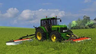 Farming Simulator 2013 John Deere 7530 Premium (grass cutting)