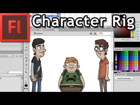 Rigging Characters ready to Animate in Flash