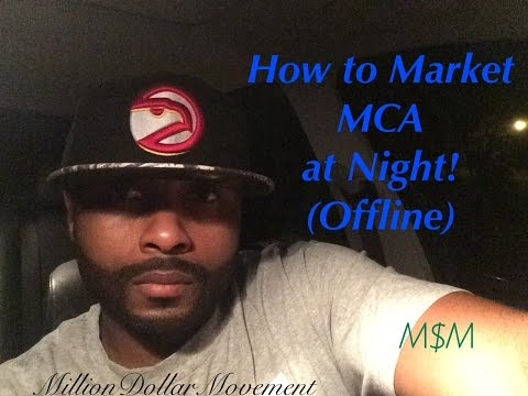 Desmond Collins MCA Training | How to Offline Market Motor Club of America at Night!