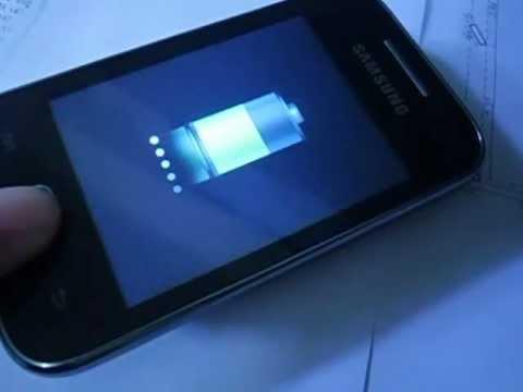 Celular Samsung y 5360 carregando sozinho sem estar ligado na tomada