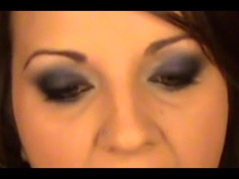 Ahumado Azul Oscuro - Cómo maquillar ojos grandes