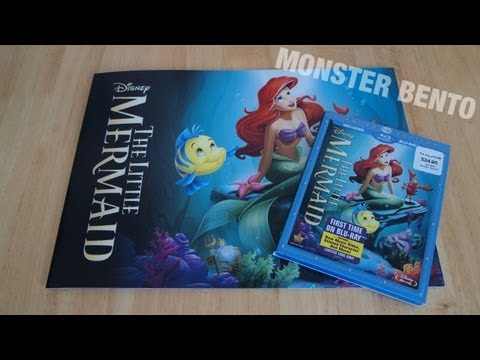 Disney The Little Mermaid Diamond Edition Blu-Ray & DVD Unboxing with Lithograph Set