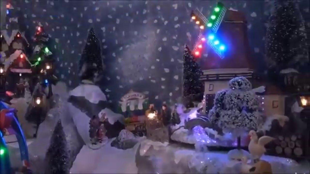 Déco Buffet Noel Village Miniature Déco Noel