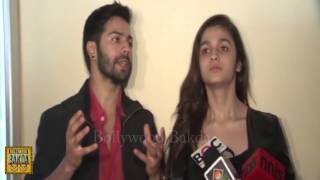 Alia Bhatt And Varun Dhawan Faught in front of Media