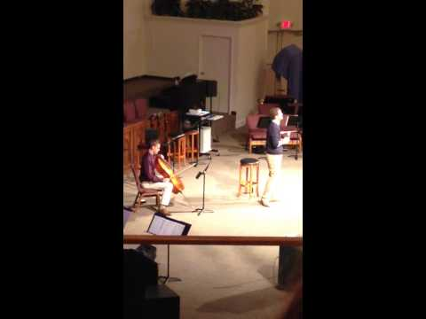 Joshua Dissmore cello at Southgate Baptist