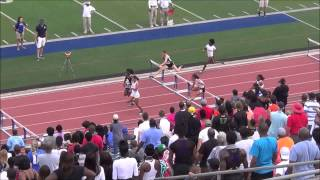 2014 Region II 4A | Girls 100m Hurdles Final | 13.51