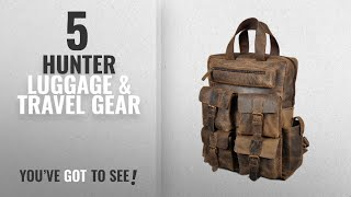 "Top 10 Hunter Luggage & Travel Gear [2018]: Devil Hunter 18"" Leather Backpack for men / women Brown"