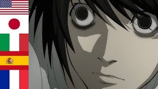 """I AM L"" in 13 languages ? Death Note"