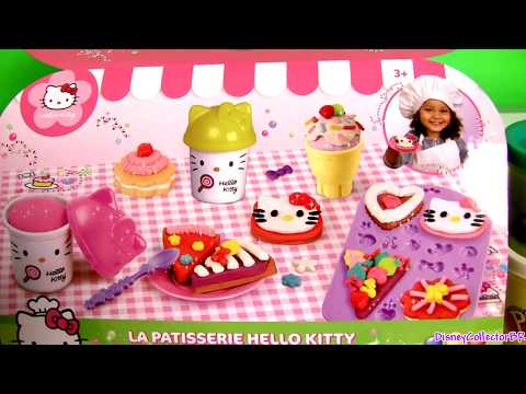 Play Doh Hello Kitty Pastry Shop Donuts Ice Cream Pies Cupcakes La Pâtisserie  キャラクター練り切り ハローキティ video