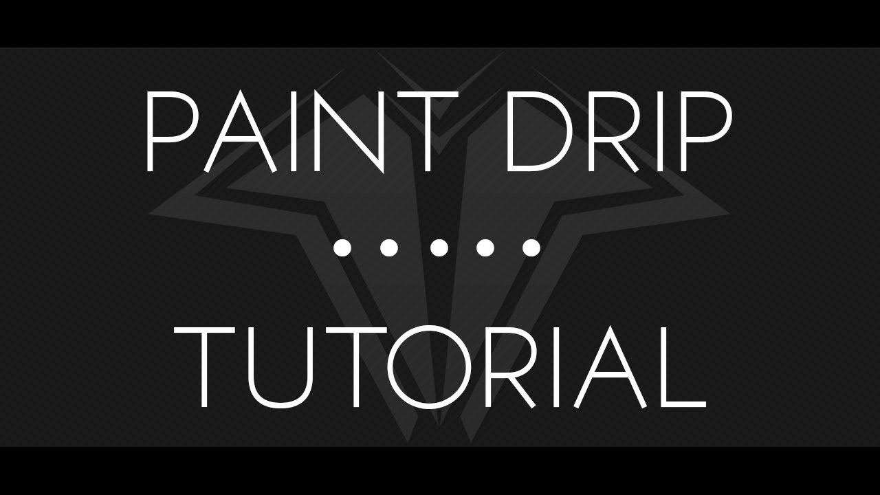 Photoshop Painting Tutorials Paint Drip Effect Photoshop