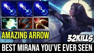 [Amazing Arrow Prediction] Probably the Best Mirana You've Ever Seen 32Kills Hard Carry Build Dota 2