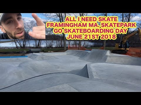 Anthony Shetler visits Framingham MA. Park N Recs to discuss Go Skate Day 2018