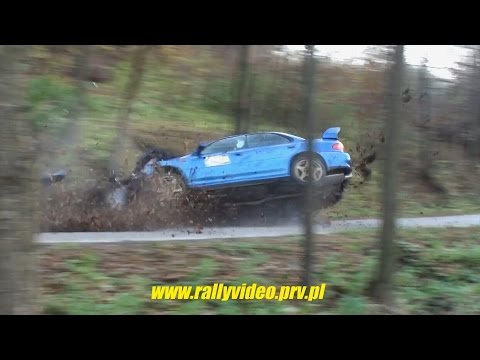 Subaru Impreza BIG CRASH (rally kjs rajd ) - Super Oes Brzeziny - 2016-11-05