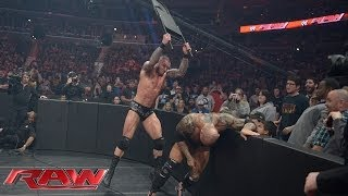 Batista vs. Randy Orton - No Disqualification Match: Raw, March 31, 2014