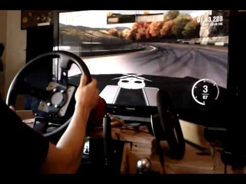 Watch Fanatec CSR Elite Drifting Forza 4 handbrake mod custom racing wheel hub Maple Valley Chevy Nova