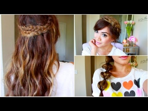 3 Running Late for School Hairstyles! ♡ ThatsHeart