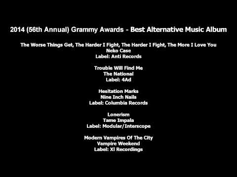 56th Annual Grammy Awards - Best Alternative Music Album Nominees [text]
