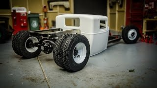 Custom RC Rat Rod Build #2, Rear 4 Link and Steering