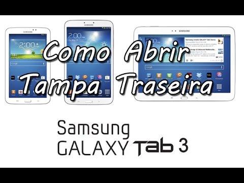 Samsung Galaxy Tab 3 SM-T210R Abrir Tampa Taseira