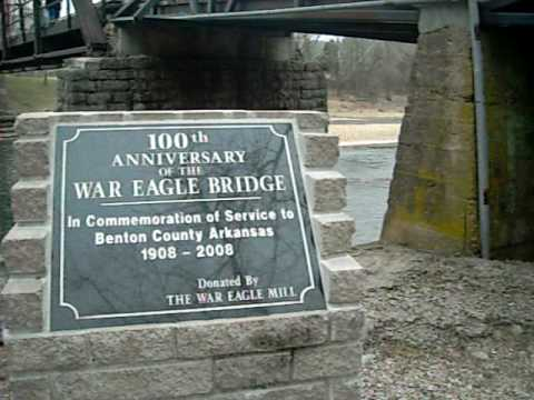 War Eagle Mill and Bridge, War Eagle, Arkansas Video