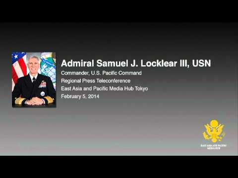 PACOM Commander Locklear Regional Telephone Conference