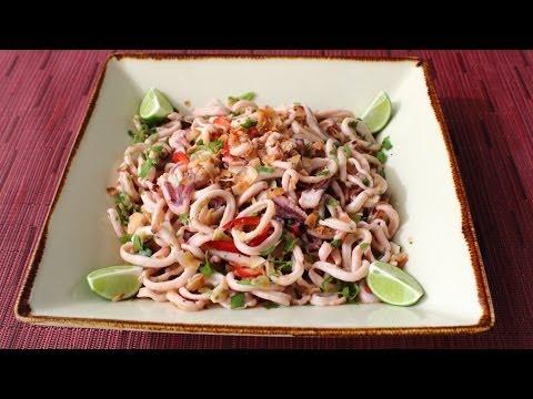 Spicy Coconut Calamari Salad - Asian-Style Coconut & Squid Salad Recipe