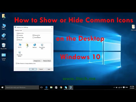 How to Show or Hide Common Desktop  Icons on Windows 10