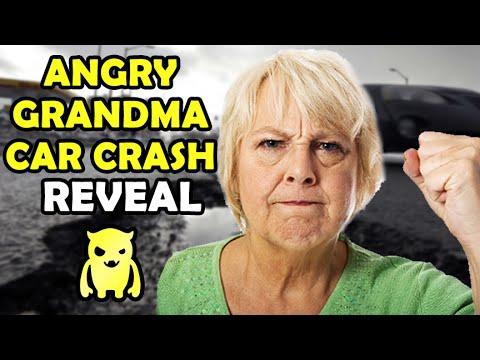 Angry Grandma Car Crash REVEAL - Ownage Pranks