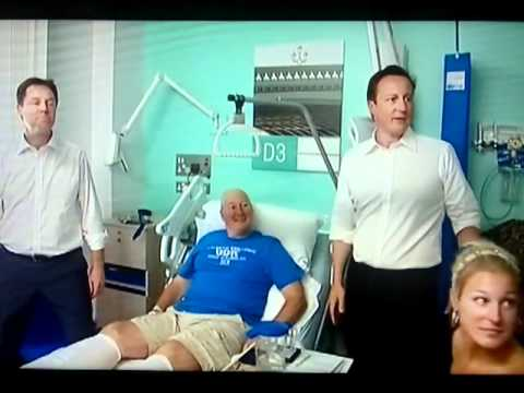 David Cameron is kicked off hospital ward 14/06/2011  MUST SEE