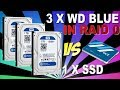 3 x WD Blue RAID 0 vs SSD - Performance Benchmark