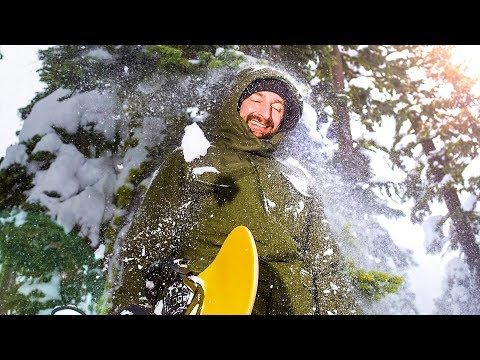 A WEEKEND *SNOWBOARDING* WITH BRAILLE!