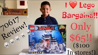 Lego The Ninjago Movie Temple of The Ultimate Ultimate Weapon Review. 70617.