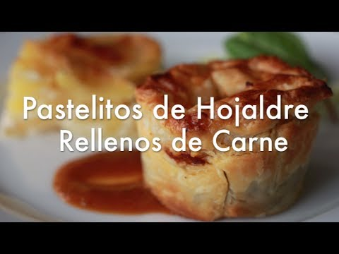 Pastelitos de Hojaldre Rellenos de Carne - Recetas de aprovechamiento