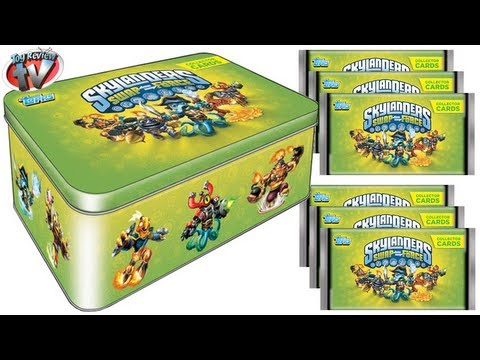 Skylanders Swap Force Collector Cards Tin Review. Topps