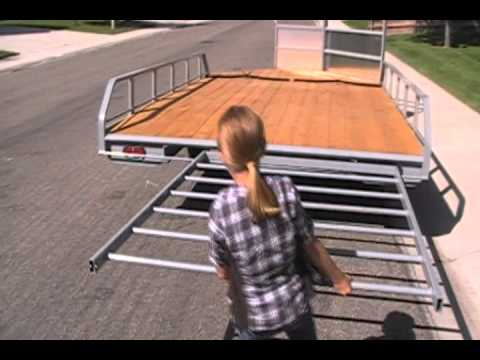 TREKK deluxe 2-place snowmobile trailer.wmv