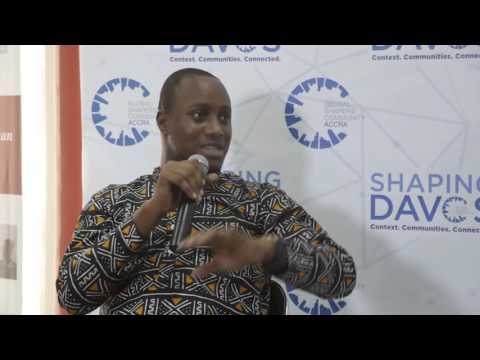 #ShapingDavos in Accra 2016 - John Armah (1) #ShapingJobs