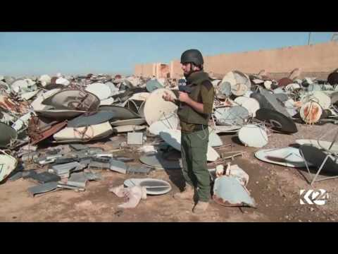 Kurdistan24 discovers thousands of destroyed satellite dishes, receivers in Mosul